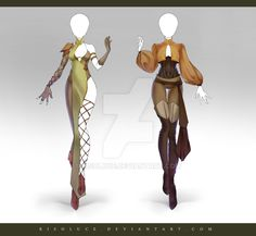 (OPEN) Adoptable Outfit Auction 203-204 by Risoluce.deviantart.com on @DeviantArt