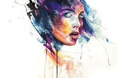 Italy-based artist Silvia Pelissero, aka agnes-cecile, creates these stunning watercolor illustrations Check her webs. Girl Watercolor, Watercolor Portraits, Watercolor Illustration, Watercolour Paintings, Watercolor Ideas, Portrait Paintings, Abstract Watercolor, Oil Paintings, Abstract Art