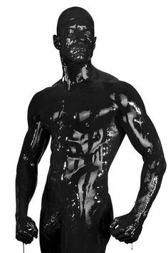 Black Paint Torso by Kedori on DeviantArt Body Painting Men, Men Tumblr, Life Moments, Shades Of Black, Male Body, Mannequins, Erotic Art, Black And White Photography, Human Body
