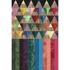 colored pencil quilt pattern - cool  	 		Downloadable quilt pattern includes a photo of...