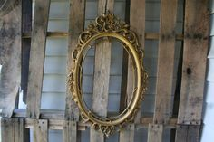 Large Vintage Ornate Gold Oval Shabby Chic Picture by vintapod