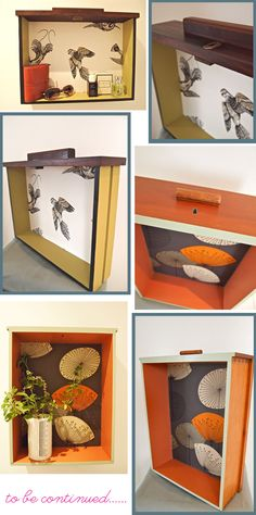 love these drawers as repurposed shelves - TERRIFIC idea for children's space as well