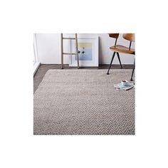 West Elm Jute Chenille Herringbone Rug, Platinum, 2.5'x7' - Area Rugs... (155 CAD) ❤ liked on Polyvore featuring home, rugs, natural, striped rug, jute chenille rug, hand woven rugs, chenille area rugs and west elm rugs