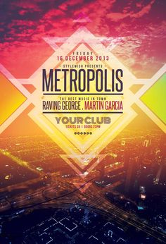 Metropolis Flyer by styleWish on Graphicriver