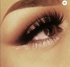 Pop of Gold Glitter on Lower Lash Line    Music Festival Makeup