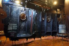 This July 22, 2009 image shows the 17-ton section of the RMS Titanic that was recovered from the ocean floor during an expedition to the site of the tragedy, as it was displayed. The piece along with 5,000 other artifacts is set to be auctioned as a single collection on April 11, 2012, 100 years after the sinking of the ship. (RMS Titanic, Inc., via Associated Press) #
