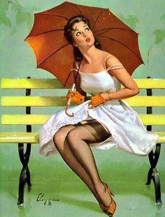umbrella pin up