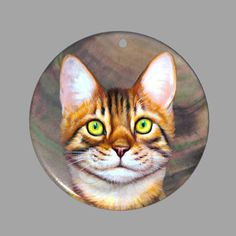 HAND PAINTED CAT FELINE NATURAL MOTHER OF PEARL SHELL DIY PENDANT ZP30 00361 #ZL #Pendant