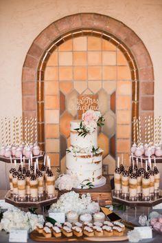 Fall Wedding Desserts, Wedding Desert Table, Sweet Table Wedding, Bridal Shower Desserts, Dessert Bar Wedding, Wedding Cake Pops, Elegant Dessert Table, Elegant Cake Pops, Dessert Table Decor