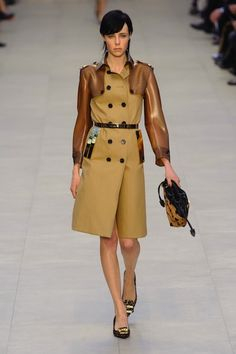 The trench! Burberry Fall '13 From Day 4 of London Fashion Week