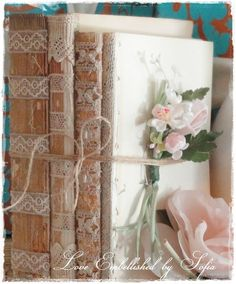 RESERVED for Rachel One Book Stack Bundle with Antique Lace ...