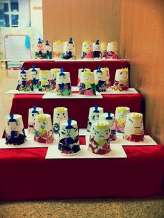 One of the traditional Japanese event, Hinamatsuri. My students made a paper cup doll.