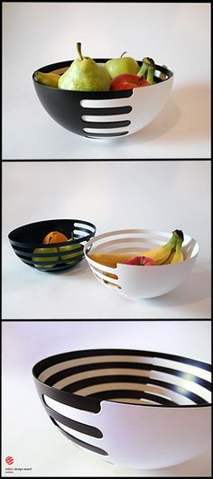 Eclipse Steel Fruit Bowls by More Than One by Sakura Adachi made in Italy on CROWDYHOUSE