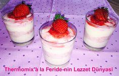 Thermomix à la Feride-nin Lezzet Dünyasi: Erdbeer - Vanille - Pudding / Çilekli-Vanilyali-Pu...