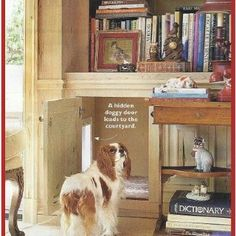 Hidden doggy door from Southern Living