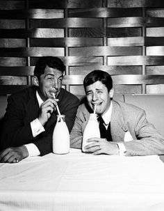 Dean Martin and Jerry Lewis by Elmer Holloway