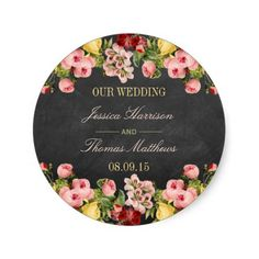 The Vintage Floral Chalkboard Wedding Collection