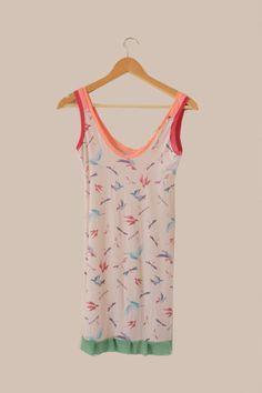 #dress #birds #vestido #pájaros #indumentaria #diseño #trueno dorado