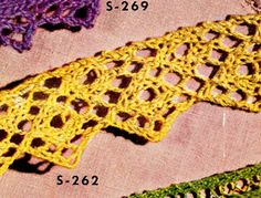 Knitted Edging pattern from Edgings for All Purposes, Clark's O.N.T. J Coats, Book No. 288, in 1952.
