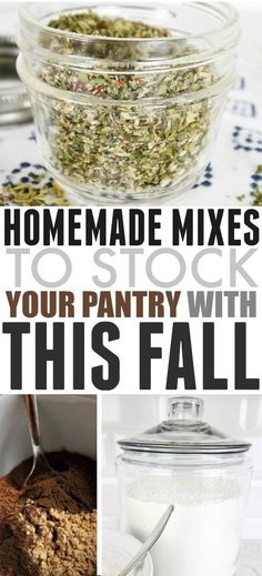 Delicious Homemade Herb and Seasoning Mixes to Stock in Your Pantry! High in nutrition, and great for flavoring low carb and keto dishes, these are a great option for all! Homemade Dry Mixes, Homemade Spices, Homemade Seasonings, Homemade Italian Seasoning, Homemade Recipe, Do It Yourself Food, Recipe Mix, Sos Recipe, Spice Mixes