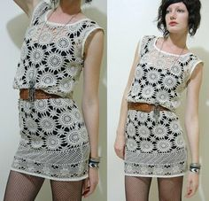 crochet - so cute and looks easy. motifs sewn together, (no shaping needed?)