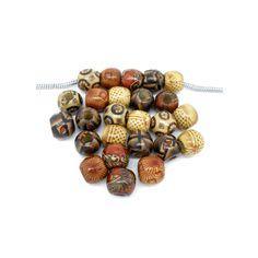 Barato LASPERAL 100 PCs Fixo Misturado Pintado Tambor De Madeira Beads Big Hole Beads Fit Charme Europeu Pulseira DIY Para Fazer Jóias 11x12mm, Compro Qualidade Contas diretamente de fornecedores da China:   Natural Color DIY Beading 5PCs Wooden Beads Bear Ears 3D Smiley Bear Head Wood Beads For DIY Crafts Kids Toys & Pacifi