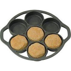 Kitchen|Cookware|Lodge Cast Iron Cookware|Lodge Logic® Cast Iron Drop Biscuit Pan - Lehmans.com