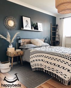 Who would have thought industrial style could be so chic? The edgy Happy Beds Urban Rustic bed looks like it would be right at home in the converted New York apartment of your dreams. With a wood-effect finish, bold black lines and a supportive slatted ba Home Decor Bedroom, Bedroom Makeover, Home Bedroom, Cozy House, Home Decor, Room Inspiration, Bedroom Inspirations, Apartment Decor, Room Decor