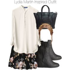 Teen Wolf - Lydia Martin Inspired Outfit by staystronng on Polyvore featuring Abercrombie & Fitch, H&M, CÉLINE, LydiaMartin and tw