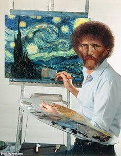Starry Night: Bob Ross as Vincent Van Gogh