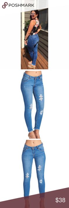 c59345bab5e Denim booty lifting jeans Booty lifted jeans that make your legs look  longer Jeans Skinny