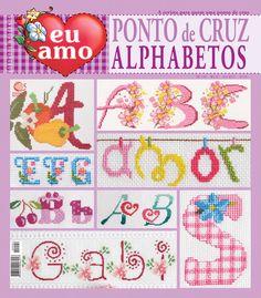 Eu Amo Ponto de Cruz Alphabetos nº 04                                                                                                                                                                                 Mais