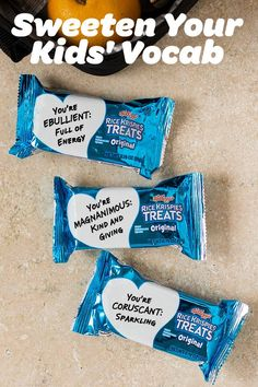 Let your sweet little ones know how much they mean to you while also teaching them a thing or two! Rice Krispies Treats offer the perfect space to write a caring message, or teach a valuable lesson. Your child's favorite snack can become a delicious and e