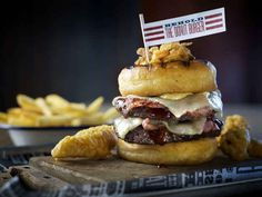 Donut Burger at Red's True Barbecue, Leeds, Manchester and Nottingham