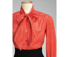Red secretary blouse