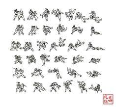 Jack Ngo Art. Sharpie on cartridge paper. Sharpie samurai.