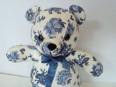 SALE -Vintage Floral Fabric Teddy Bear Shabby Chic Nursery, Shabby Chic Bedroom, Baby Shower Gift on Etsy, $16.00