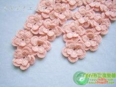 Flowers scarf crochet with diagram