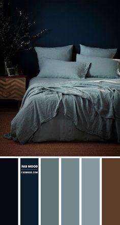 Blue Color Schemes, Bedroom Color Schemes, Bedroom Colors, Teal Bedroom Decor, Bedroom Ideas, Dark Teal Bedroom, Teal Blue Bedrooms, Paint Colors For Home, House Colors