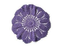 crochet doily violet lace, Crochet doily,lace doilie, table decoration, crocheted place mat, doily tablecloth,table runner, napkin, violet