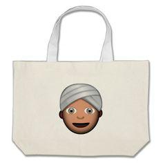Man With Turban Emoji Canvas Bag