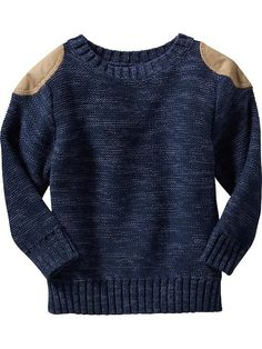 Shoulder-Patch Sweater for Baby