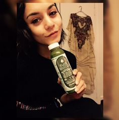 Vanessa Hudgens knows that nothing goes better with a green juice than a healthy complexion.
