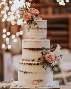 This elegant cake is pure perfection and is guaranteed to be an amazing addition to your rustic ceremony. For more wedding cake inspiration visit rusticweddingchic.com | Photo: @abigailsflowersil @denises_delights_ Wedding Cake Rustic, Wedding Cakes, Wedding Bride, Budget Wedding Inspiration, Sweet Sundays, Elegant Cakes, Wedding Desserts, How To Make Cake, Wedding Season