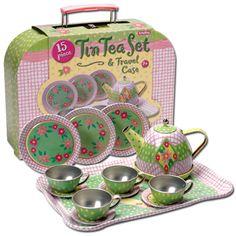 Tin Tea Set - I want this for Christmas!