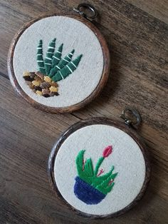 Image of CACTI + SUCCULENTS Hand Embroideries by MacuNana