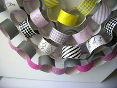 the coolest paper chain I've ever seen