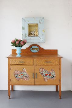 Dresser with a twist   Look for cheap dresser and hutches with missing doors and drawers