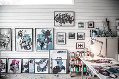 The lovely home and atelier of an artist. Tant Johanna / Kristin Lagerqvist.