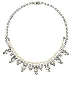 Pearl Certain Ratio Necklace Tom Binns Diy Fashion, Fashion Jewelry, Tom Binns, Toms, Statement Necklaces, Pearls, Diamond, Jewellery, Inspiration